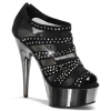 DELIGHT-600-8 Black Suede/Pewter Chrome